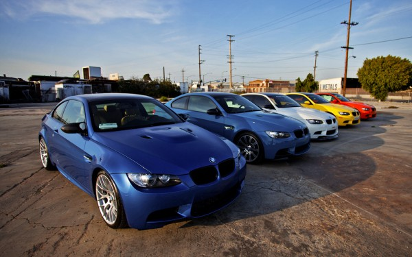 5 цветов BMW E92 M3: Fire Orange, Monte Carlo Blue, Dakar Yellow, Brilliant White и Laguna Seca Blue